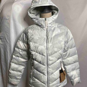 The North Face Alpz Luxe Hooded Camo Down Jacket
